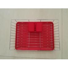 Chrome drainer with plastic tray