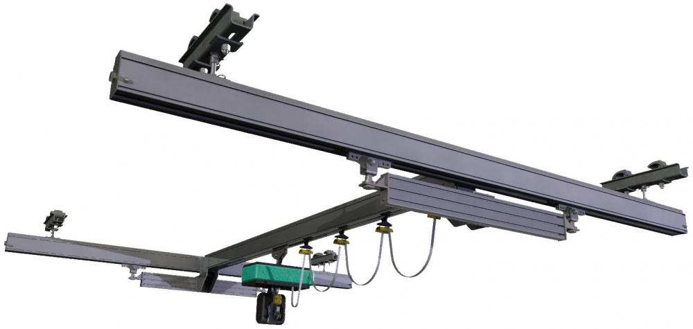 Double-girder Articulated Light Crane
