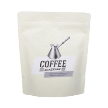 Custom sized compostable  craft paper coffee bag manufacturers China