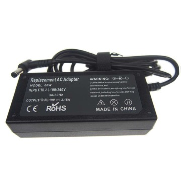 19V 3.16A 60W Laptop Charger For Acer