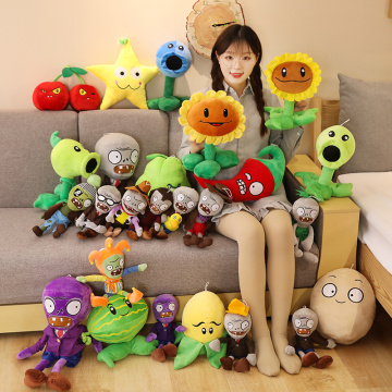 18-50cm New Plants vs Zombies Plush Toys Stuffed Zombies Pea Sunflower Melon Cute Decorations Creative Gift for Kids Children