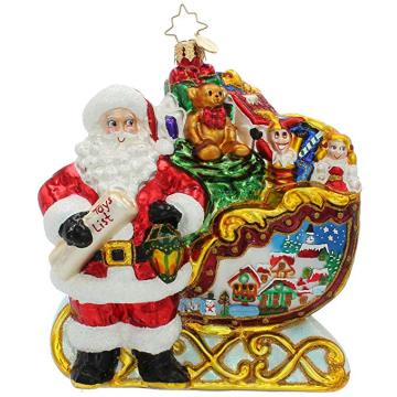 Santa Claus Christmas Customized Glas handgemalte Verzierung