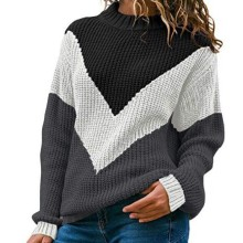 Sweaters Women Winter 2020 Knitted Clothes Fashion Women Patchwork Knit Warm Sweater Female Loose Casual Large Size Clothes
