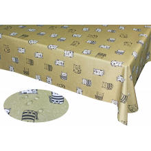 Waterproof Printed Poly-Cotton Tablecloth