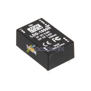10pcs Meanwell LDD-1000H DC Constant Current Step-Down LED Driver input:DC 9-56V,output:DC 2-52V