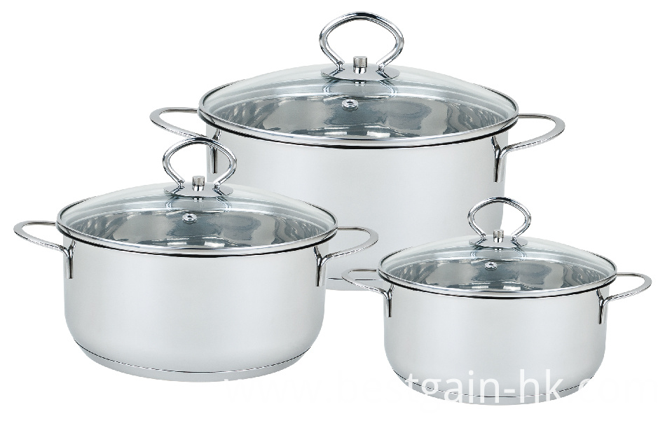 Stainless Steel 6pcs Cookware Set