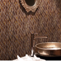 Brown glass mosaic tiles for hotel reception