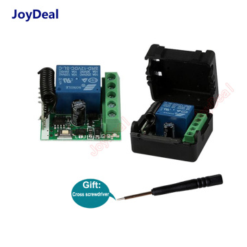 Universal 433Mhz DC12V 1CH Relay Wireless Remote Control Switch 433 MHz RF Receiver Module For Smart Home Switch Transmitter Diy