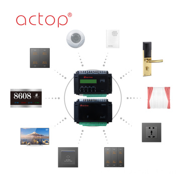 Intelligent Hotel Automation Custom Hotel Host Wall Switch Sockets Door Plate Hotel Door Lock Music Background Host