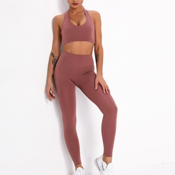 women ribbed yoga sets apparel Fitness