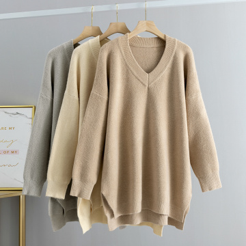 Sleeve Chunky Loose Pullover Knit Jumper