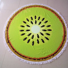 printed round beach towel