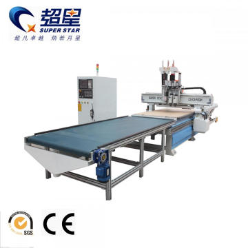 Auto Load And Unload CNC Woodworking Machine