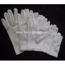 White Cotton Gloves with Elastic Cuff