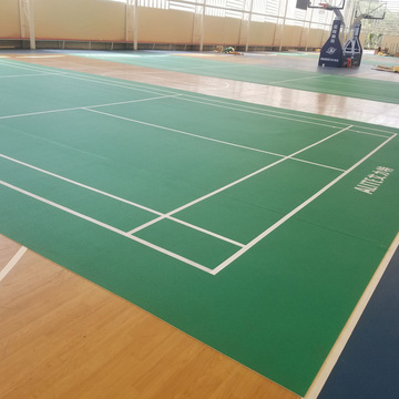 Vinyl Sport flooring:Indoor badminton Court