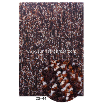 Polyester Thick Space Dyed Yarn Carpet