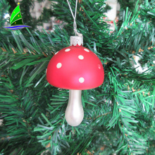 Fly Agaric Mushroom Amanita Muscaria Glass Hanging Ornaments