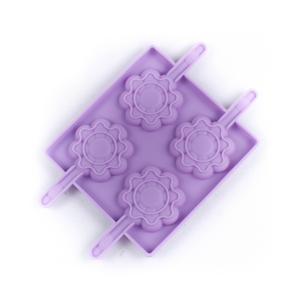 Flower Chocolate Lollipop Silicone Mold (2)