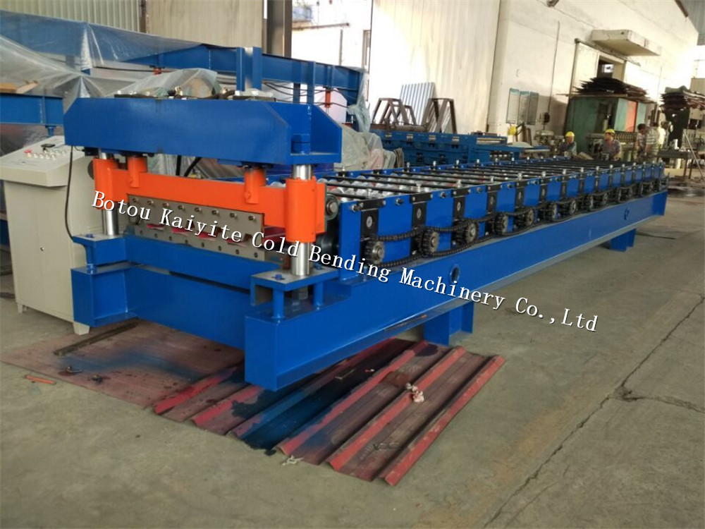 High quality customized width roof roll forming machine trapezoidal