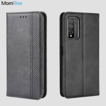 For Huawei Honor 10X lite Case Book Wallet Vintage Magnetic Leather Flip Cover Card Stand Soft Cover Luxury Mobile Phone Bags
