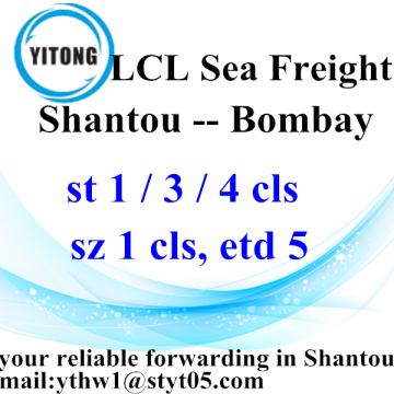 LCL Ocean Frwight Services from Shantou to Bombay