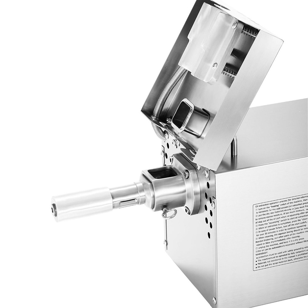 Hot And Cold Mini Oil Pressing Machine Soybean Home Use Oil Pressers Cold Peanuts Electric Stainless Steel Oil Press Machine
