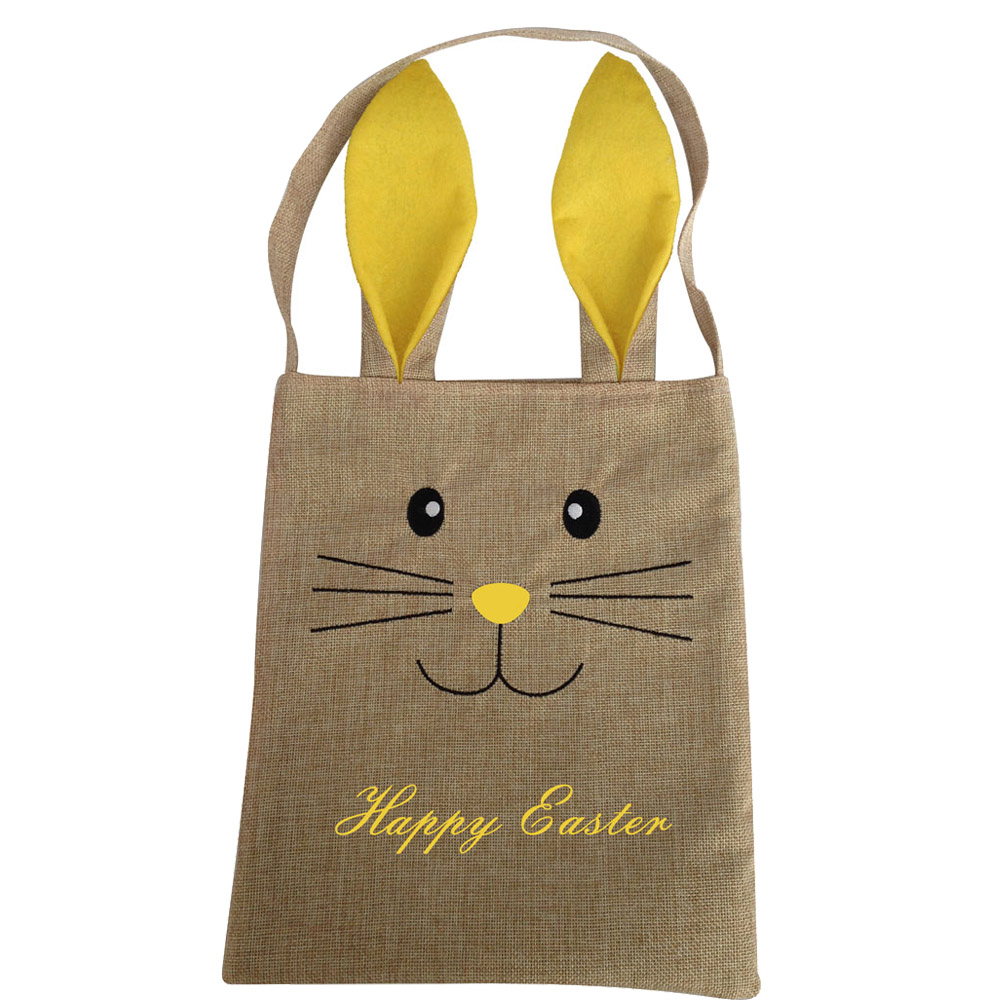 Burlap Easter Candy Gift Bag