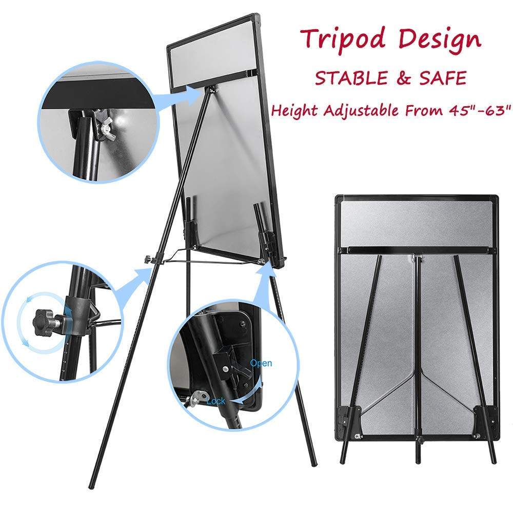 Height Adjustable Magnetic Flipchart