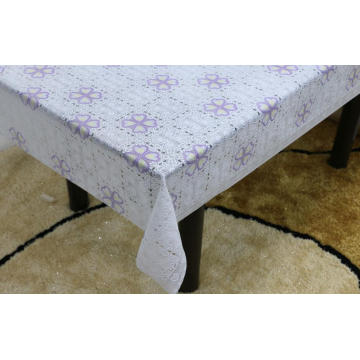 cover Printed pvc lace tablecloth by roll