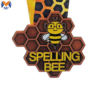 Personalized custom bee sports medals