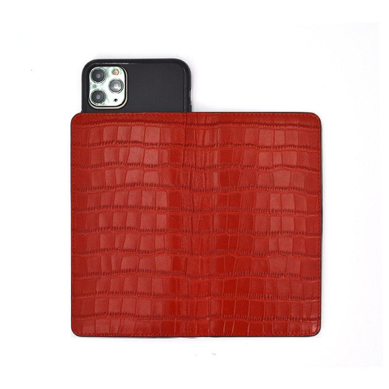 Business Magnetic Flip Crocodile Embossed Leather Phone Cases