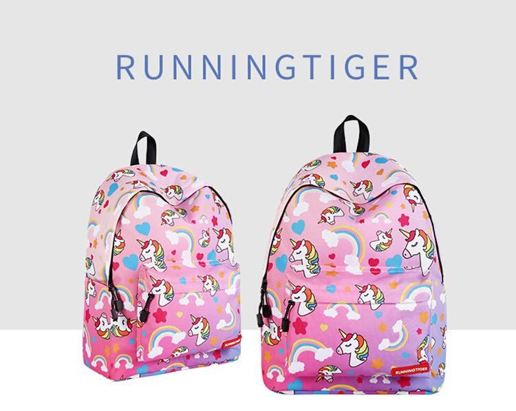 Primary and secondary school unicorn girls backpack 2019
