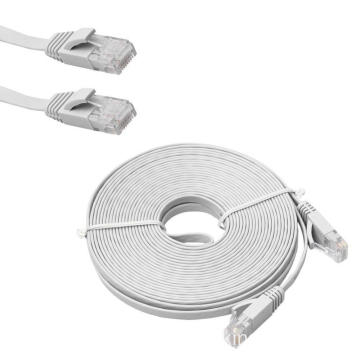 50FT CAT6 Flat Ethernet Cable VS Round