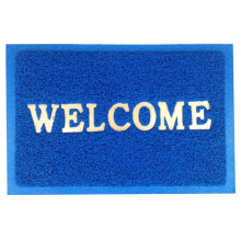 Cheap PVC coil embossed welcome door mat