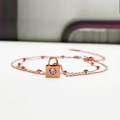 Simple rose gold 11 inch bridal anklet designs