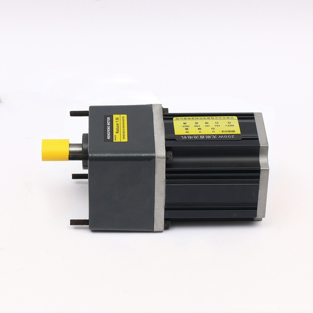 24V 36V 200w Brushless DC Gear Motor