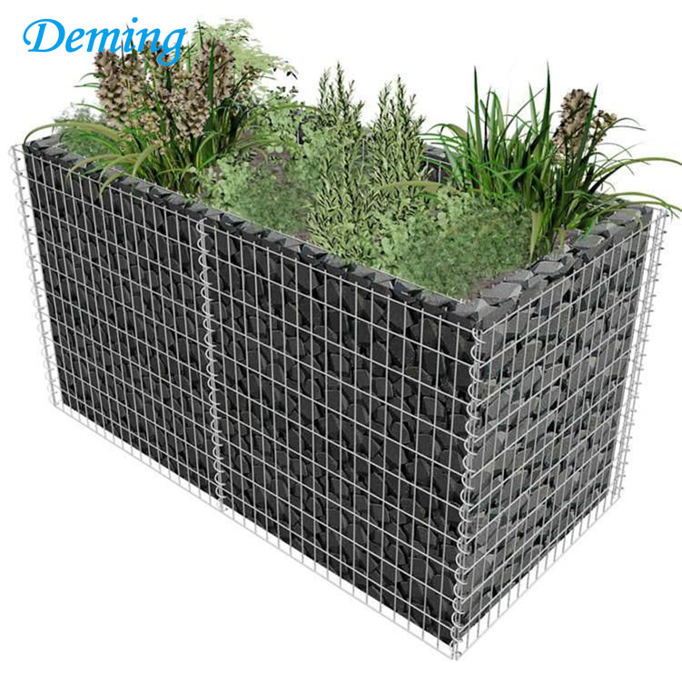 welded wire mesh gabions used for retaining wall