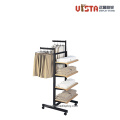 Garment Metal Frame Wooden Clothing Display Racks