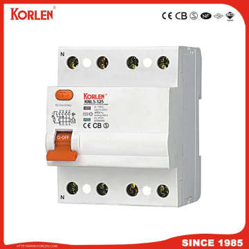 Patented RCCB KNL5-125 500mA with IEC61008-1