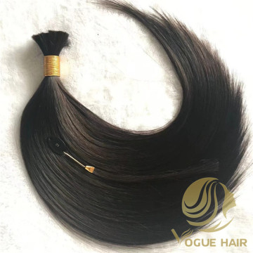 Black real remy cuticle human bulk hair