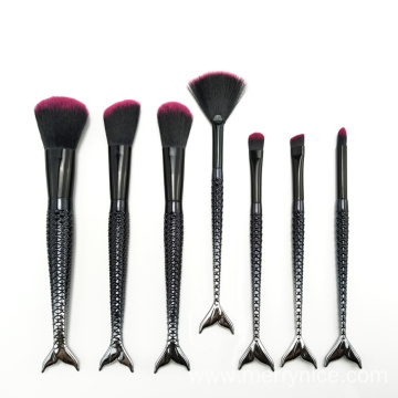 7PC Mermaid Cosmetic Brush Set