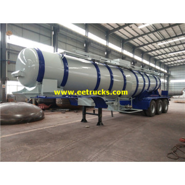 20000 Litres Tri-axle H2SO4 Transport Tanker Trailers