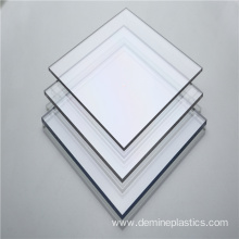 Glossy surface transparent clear solid polycarbonate panel