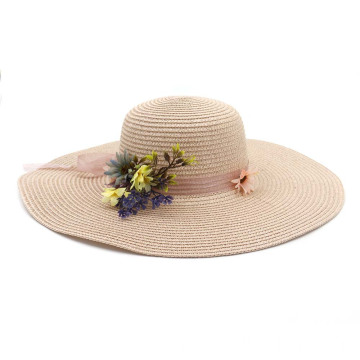 Lady travel summer top cover straw hat