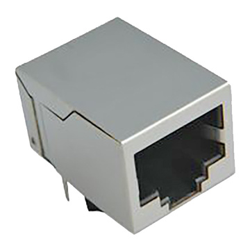 RJ45 Jack side entry Full Plastic 1X1P Front3.05