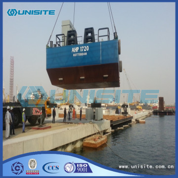 Steel marine floating platforms