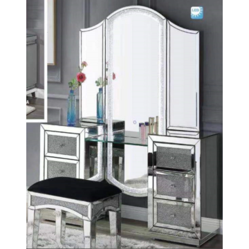 Dressing table with mirror in ladies bedroom