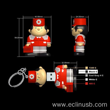 Custom Human Shaped USB Flash Drive 3D