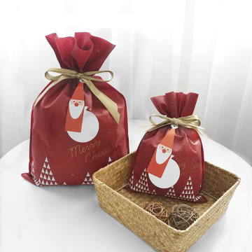 Medium Red Drawstring Gift Bags