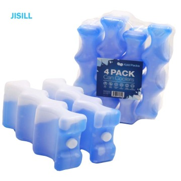 HDPE curve shape gel ice pack cooler reusable